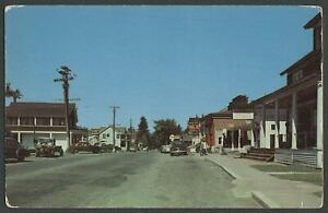 Indian-Lake-Adirondack-Mtns-NY-c-1950s-Postcard-MAIN-STREET-ST-BUSINESS-SECTION