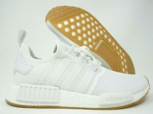 Adidas Nmd R1 Mens Running Shoes Cloud White Gum Soles D96635 Size