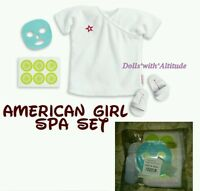 American Girl Spa Deluxe Goody Bag Set Robe Slippers Mask Cucumbers For Doll