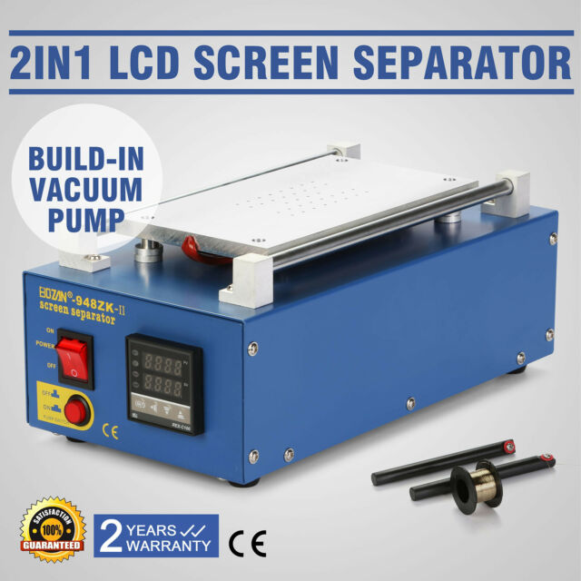 2 In 1 Vacuum LCD Screen Separator Front Glass Galaxy iPhone Factory Discount