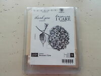 Stampin' Up Hostess Because I Care Rubber Stamp Set 5 Pieces Retired Nip