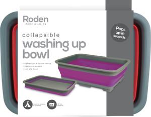 Bowls Camping & Hiking Roden Collapsible Washing Up Bowl Dishes Folding Water Reusable Camping Non Slip Base