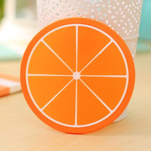 2X silicone fruits sous-verres thé tasse coussin boissons napperon porte
