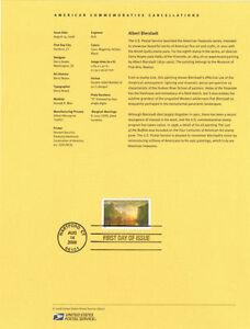 0832-42c-Albert-Bierstadt-Stamp-4346-Souvenir-Page