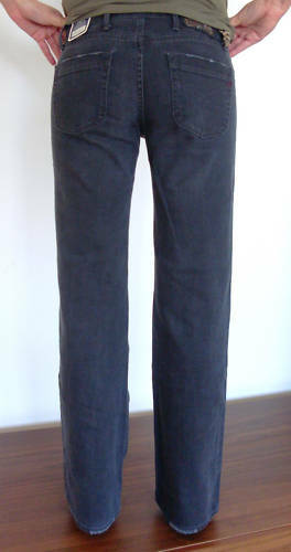 REPLAY jeans elegante pantaloni wv528 WV 528 Hustle Marlene Style GRIGIO NUOVO