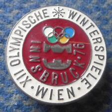 OLYMPIC INNSBRUCK 1976 RARE SCREW PIN BADGE