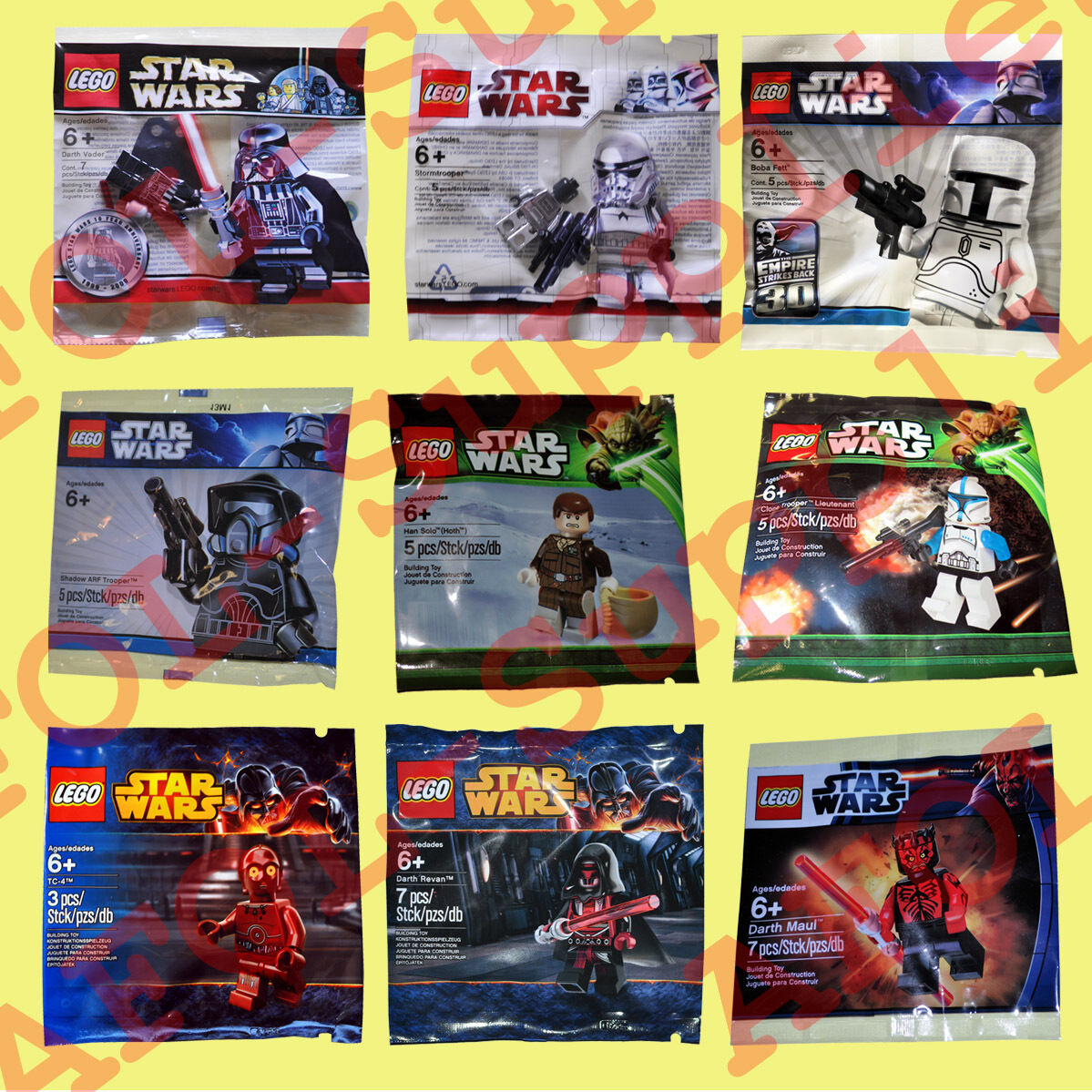 LEGO Star Wars 9x Limited Edition Minifiguren Superset 2009-2012