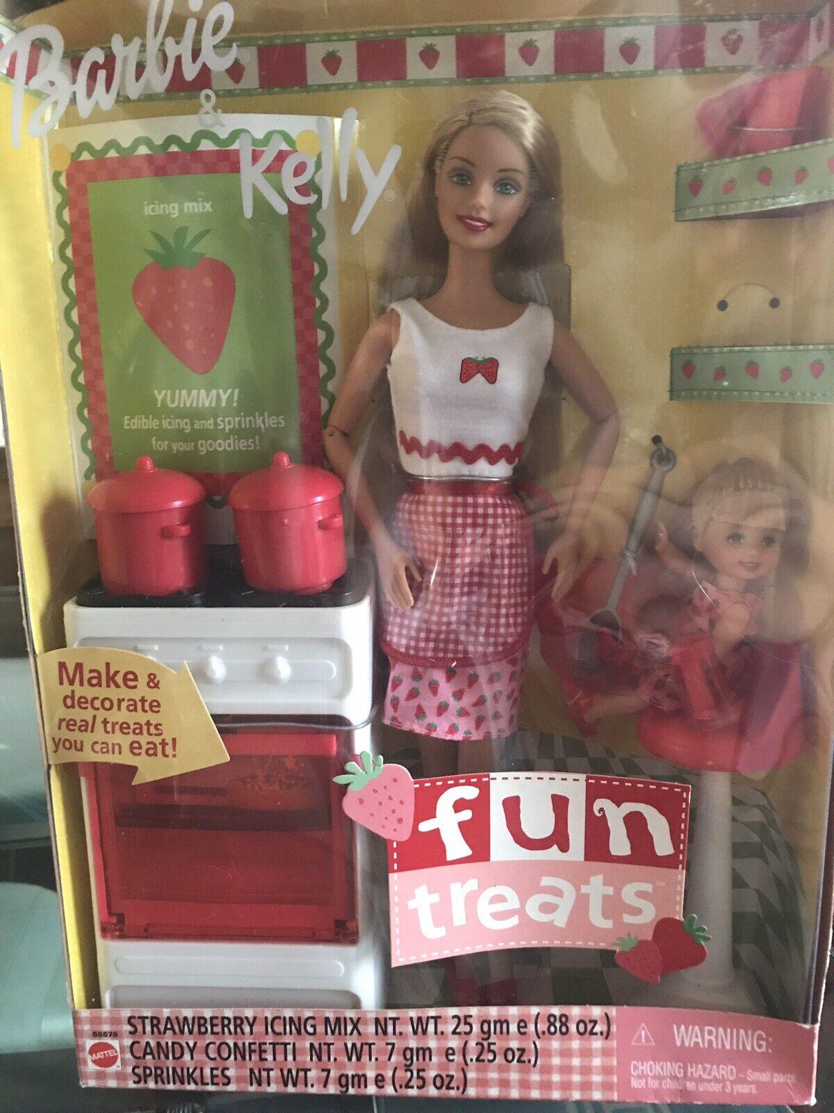 Barbie And Kelly Fun Treats Set New In Box