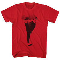 Bruce Lee Mens T-shirt In Sizes 3xl - 5xl Kick It In 100% Red Cotton
