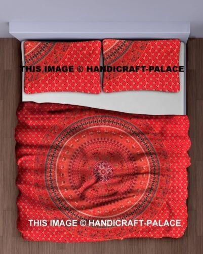 Indian Mandala Queen Bedsheet Hippie Bed Cover Bohemian Dorm Tapestry Quilt Set