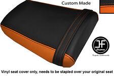 BLACK & ORANGE VINYL CUSTOM FOR HONDA CBR 600 RR3 RR4 03-04 REAR SEAT COVER ONLY