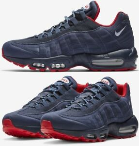 dcfe2498bf7 NIKE AIR MAX 95 PREM Sz 10.5 NAVY BLUE - RED(BV1255-400)1 90 97 tn ...
