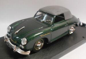 Brumm-1-43-Scale-Metal-Model-R118-PORSCHE-356-CABRIOLET-1950-DARK-GREEN