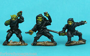 NINJA-Goblin-3-Warhammer-Fantasy-Esercito-28mm-non-dipinti-Wargames