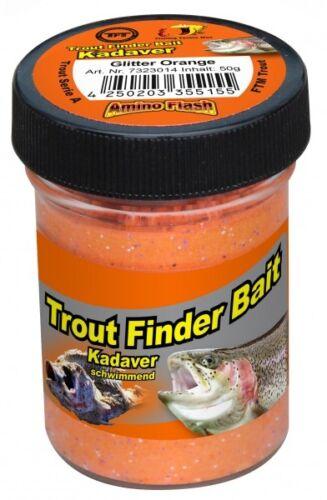 TFT Trout Finder Bait Kadaver Glitter Paste 50g Orange Schwimmend 7323014