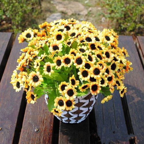 14 Kopf Zweig Künstliche Kunst Blumen Blüten Seide Kunstblumen Haus Garten Jt