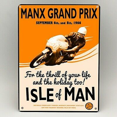 TT Isle of Man Races METAL SIGN 2 Sizes Available ideal for Man Cave pub 1961