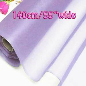 4 Yards Orchid Bloom Pure Silk Organza Bridal Dress Fabric 140cm Tulle Voile