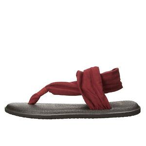 ad13ebf749b Sanuk Yoga Sling 2 Burgundy Women s Knit Fabric Sandals SWS10001