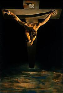 Framed-Print-Salvador-Dali-Christ-of-St-John-of-The-Cross-Picture-Poster-Art