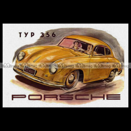 #pha.000576 Photo PORSCHE 356 1952 ARTISTIC PICTURE Auto Classic Car