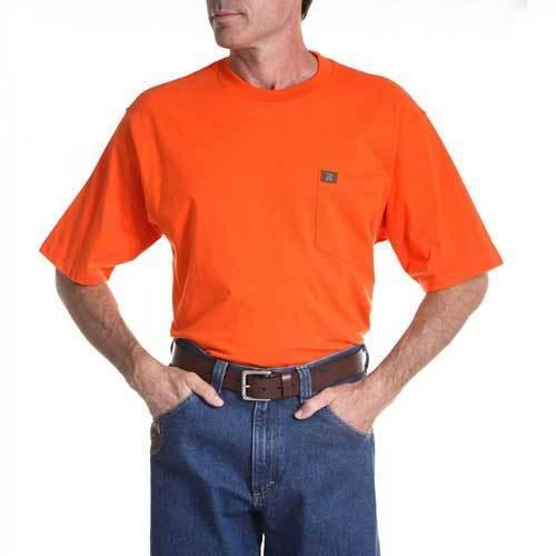 XL TALL WRANGLER Mens Short Sleeve Cotton SAFETY ORANGE T 3W700SO