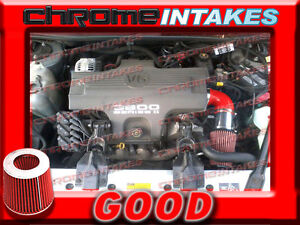 red 98 99 1998 1999 chevy lumina ls ltz all 3 8 3 8l v6 air intake kit ebay ebay