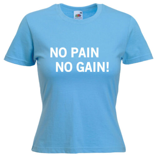 Gym Bodybuilder Sports Slogan Ladies Lady Fit T Shirt 13 Colours Size 6-16