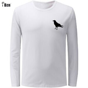 Raven-silhouette-Design-Mens-Boys-Casual-T-Shirts-Graphic-Tee-Shirt-Print-Tops