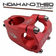 "Bicycle 40mm Short Stem 28.6mm or 1-1/8"" to 31.8mm Wave Road Handlebar MTB RED"