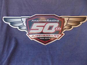 American Racing Metal 50th Anniversary Wall Sign.
