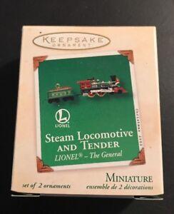 Dated 2002 Miniature The General Lionel Hallmark STEAM LOCOMOTIVE /& TENDER