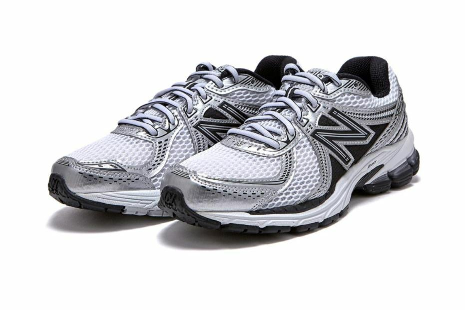 New Balance 860 Silver Black Running Shoes Men's ML860XD | eBay