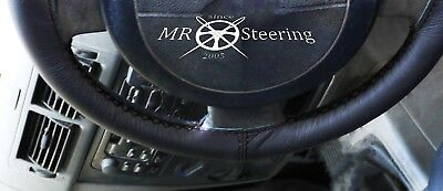 FITS CITROEN RELAY VAN 2006-2014 BLACK PERFORATED LEATHER STEERING WHEEL COVER