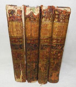 RARE-EMILE-OU-DE-L-039-EDUCATION-1762-ANNEE-DE-L-039-EDITION-ORIGINALE-4-VOL