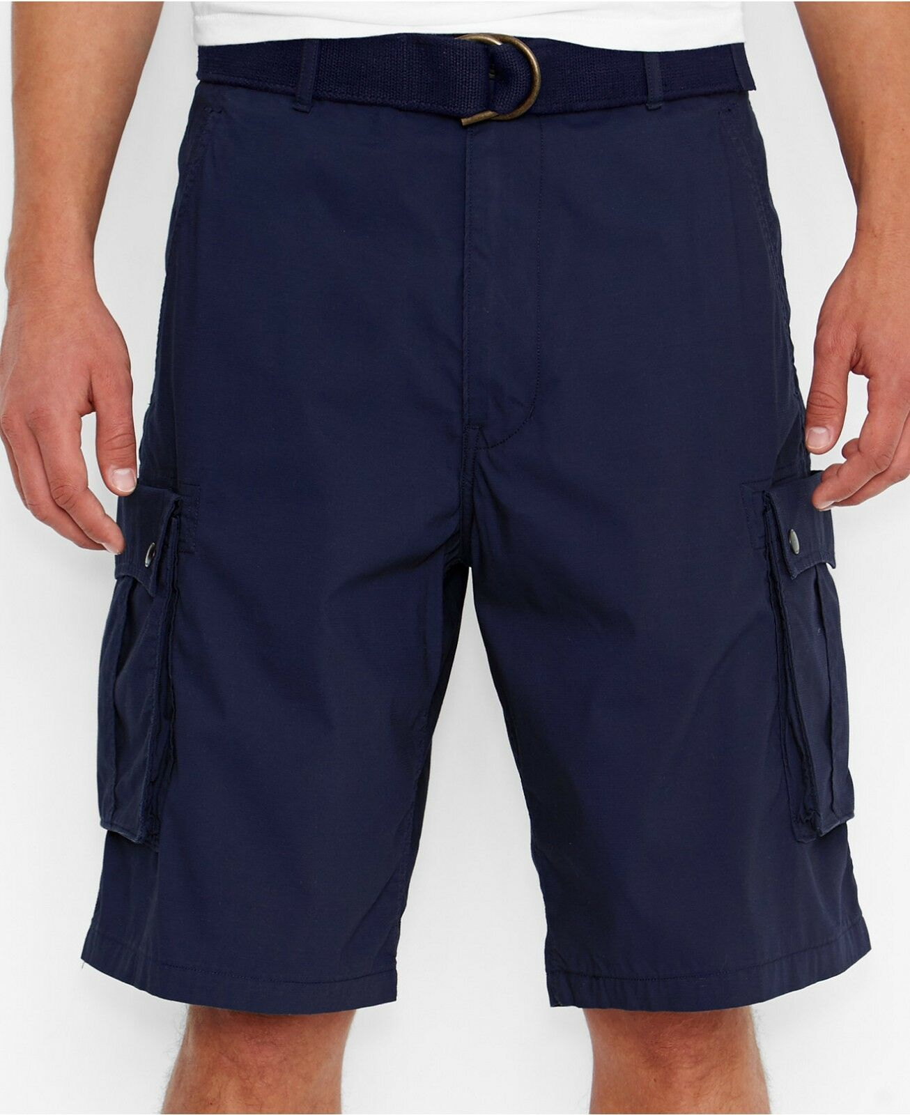 NWT Men's Levi's Snap Belted Cargo Shorts Carrier Ace Squad All Sizes Dress Blue
