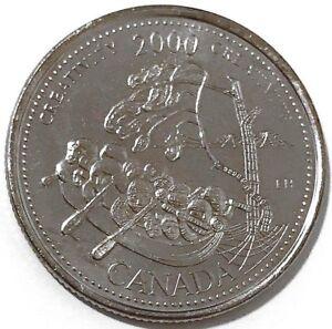 2000-Canada-Millennium-Series-October-Creativity-25-Cents-Gem-BU-UNC-Quarter