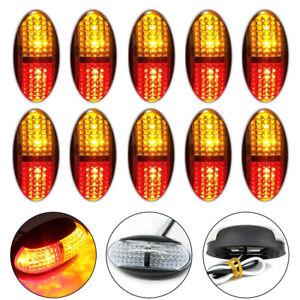 10X-4LED-Red-Amber-Side-Marker-Clearance-Light-10-30V-Lamp-Truck-Trailer-Caravan