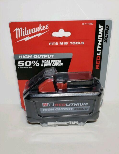 MILWAUKEE  48-11-1880 M18 Redlithium High Output 18V 8.0Ah Battery NEW!!
