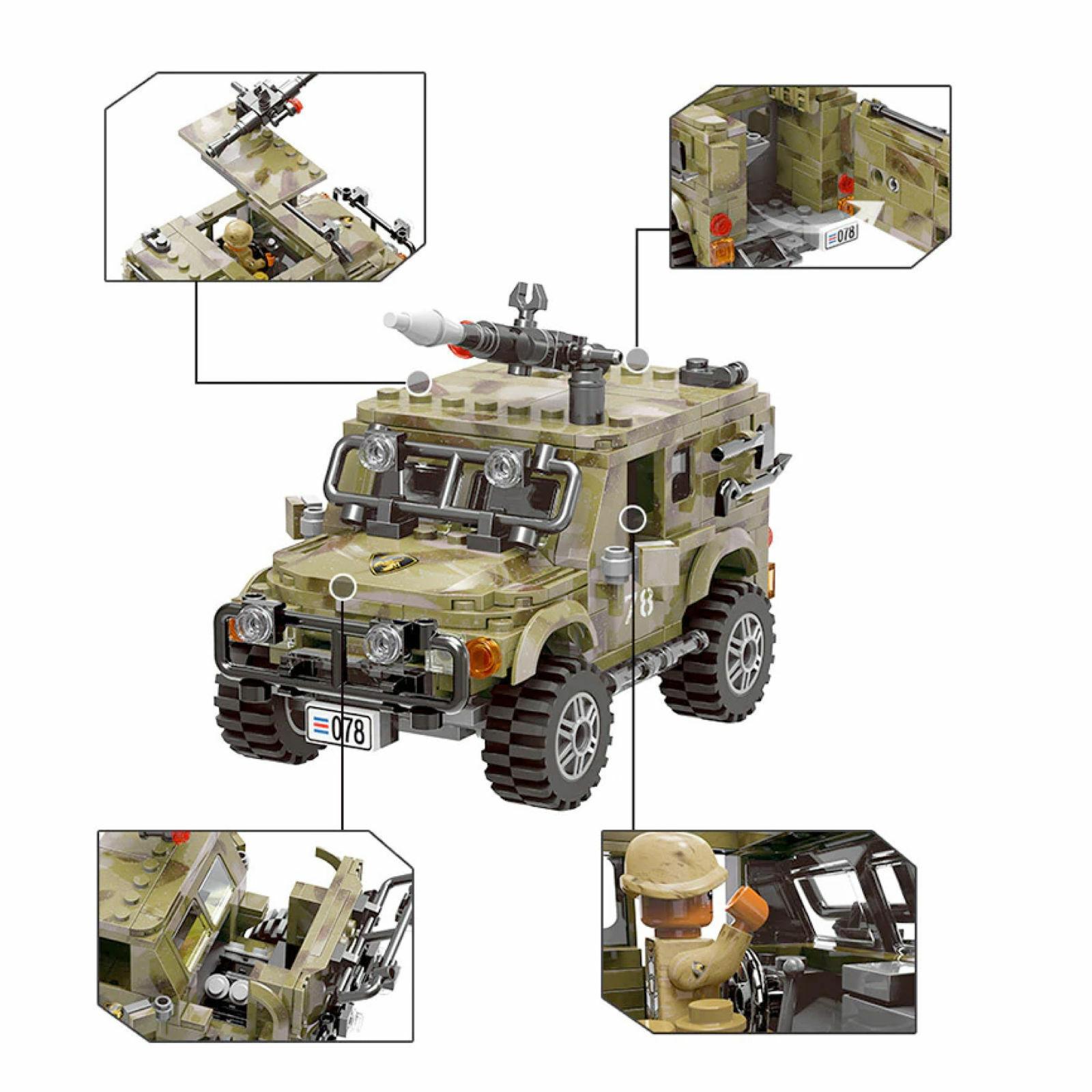 Jeep Militare army USA completa accessori Marines, LEGO TECHNIC Compatibile