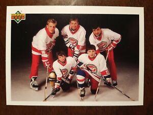 1991-92 Upper Deck #SP1 Glasnost On Ice / Gretzky / Kamensky / Hull / Savard