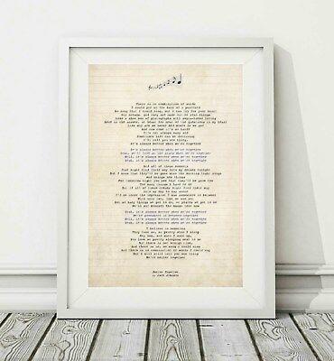 327 Jack Johnson Better Together V 2 Song Lyric Poster Print Sizes A4 A3 Ebay