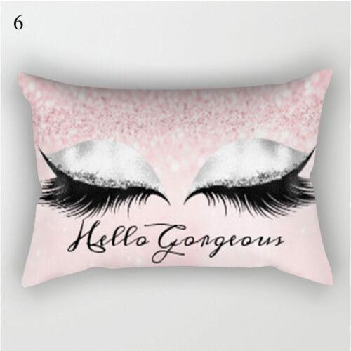 Pink Golden Pillowcase Eyelash Out Soft Velvet Cushion Cover 30x50cm Home Decor