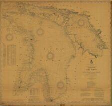 Lake Huron Historical Map 1914