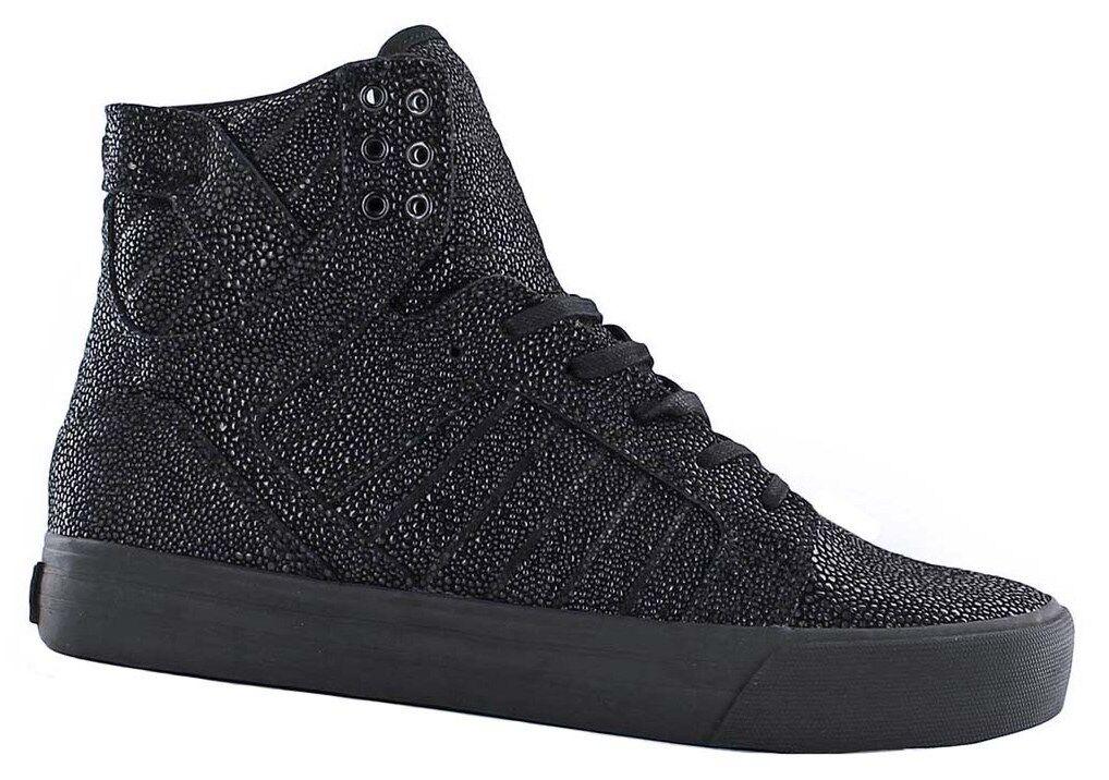 Supra skytop HF negro harmonic calcetines cortos Echt Leder negro de cuero nuevo