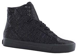 SUPRA-Skytop-HF-Black-Harmonic-Uomo-Sneaker-VERA-PELLE-NERO-PELLE-NUOVO