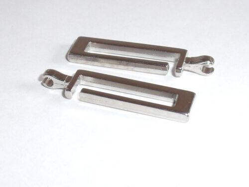 2 unidades reißverschlusszipper Zipper colgante 3,1 cm de plata nuevo inoxidable #224.2#
