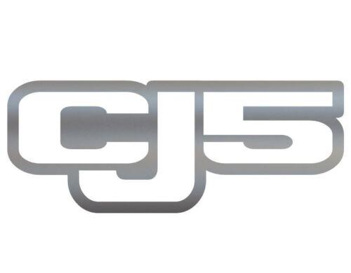 Silver Vinyl Decal Sticker Off Road CJ 5 Trails Rock Crawling 4x4 Jeep CJ5