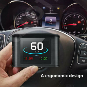 Car HUD Head Up Display KMH & MPH Digital GPS Smart Speedometer OverSpeed alarm