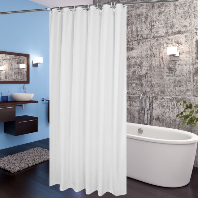 Aoohome Fabric Shower Curtain 72x78 Inch Extra Long Liner For